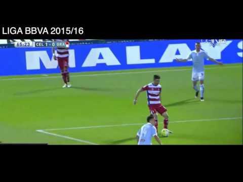 2 Goles de Iago Aspas vs Granada, Celta de Vigo 2 - 1 Granada, Liga BBVA 2016.