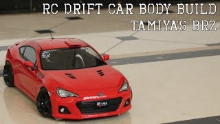 RC Drift Car Body Build  Tamiya BRZ