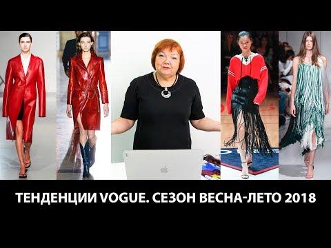 Тенденции VOGUE. Сезон весна-лето 2018.