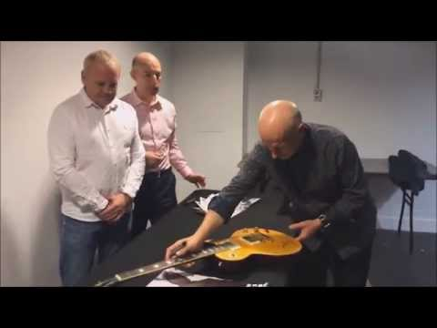 Midge Ure Guitar Signing