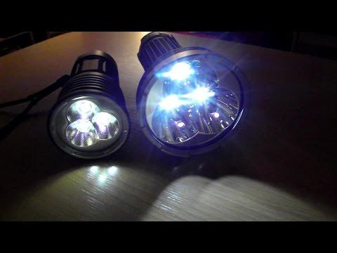 Thrunite TN36 NW 6510 lumens! Vs. Fenix TK75 2600 2900 lm Review Comparison Test
