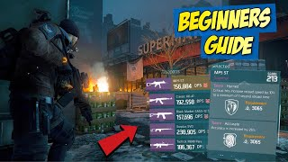The Division 1.8 Update | Guide For Beginners | Best Weapons and Talents