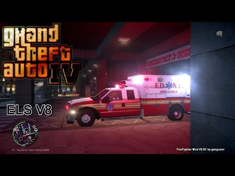 GTA IV -Firefighter mod by gangrenn - First Day as a Medic