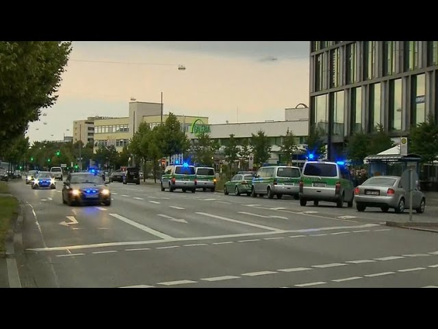 Search for clues after shooting rampage at Munich mall