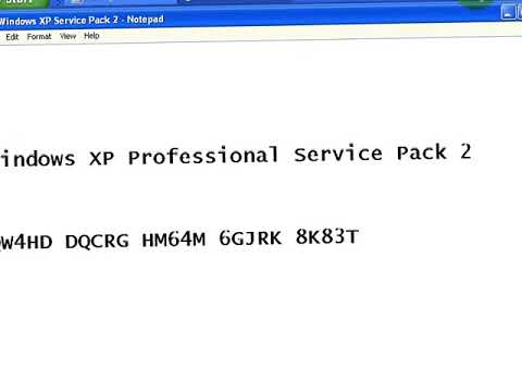 Windows Xp Professional Service Pack 2 Product Key