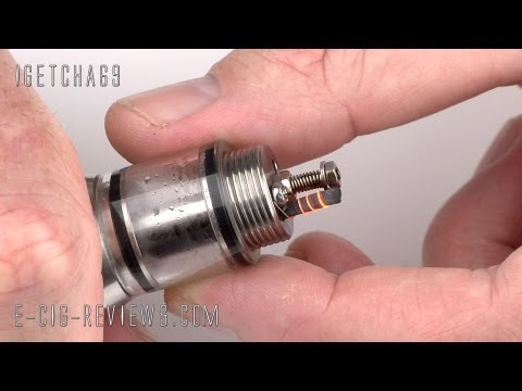 GENESIS ATOMISER EASY COIL SET UP USING A CIGARETTE PAPER