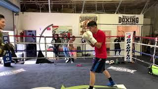 Boxing Champion Leo Santa Cruz ( officially begins training camp)