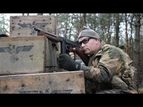 Airsoft War M4. MP44. M1A1. AK47 POW Scotland