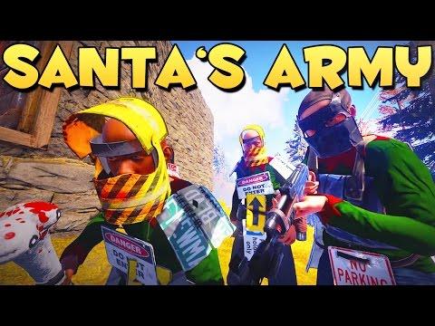 SANTA'S ARMY - Rust Funny Raid Moments