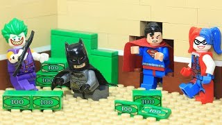 Lego Superhero Superman as Bank Robber