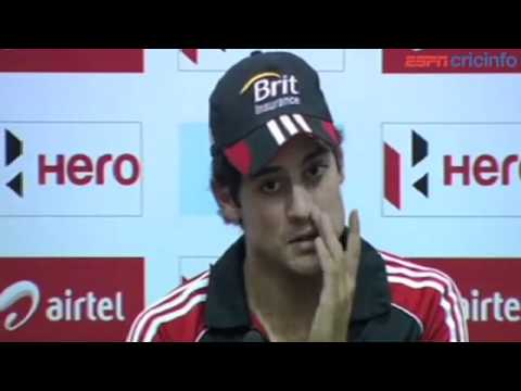 Alastair Cook - Press Conference,  India v England
