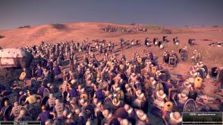 140 Elephants vs 12,000 Egyptians - Total War: Rome 2