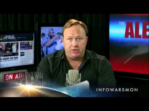 Alex Jones Show - Thursday October 18 2012 - Full Length of the Money Bomb Show Start