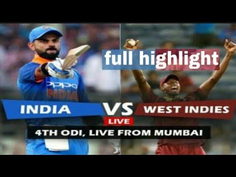 Ind vs wi 4th odi full highlight  HD in HINDI