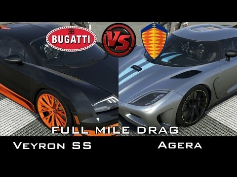 forza 5 full mile drag bugatti veyron ss vs koenigsegg agera. Black Bedroom Furniture Sets. Home Design Ideas