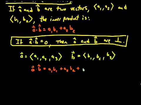 Determine if Two Vectors Are Parallel or Perpendicular