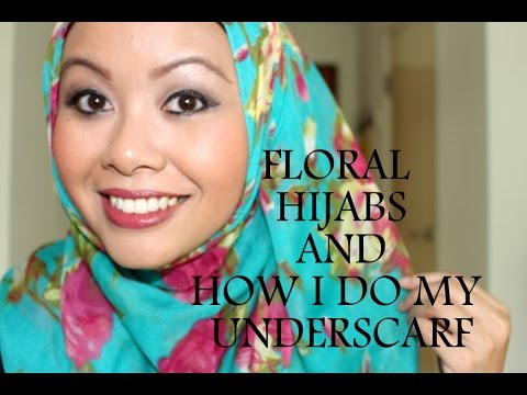 FLORAL HIJAB TUTORIAL - YouTube Jaslina Yassin