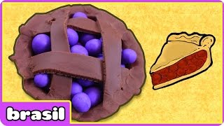 Torta de Mirtilo de Massinha | Play Doh Blueberry Pie | Play Doh por HooplaKidz Brasil