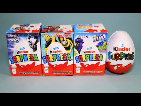 Kinder Sorpresa Huevos Para Niños Transformers Max Steel Surprise Eggs