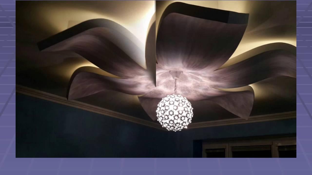 Цветок на потолке из гипсокартона своими руками 721