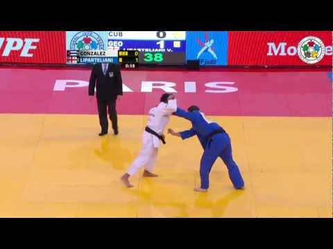 Judo Grand Slam Paris 2013: Final -90kg  GONZALEZ, Asley (CUB) -  LIPARTELIANI, Varlam (GEO)