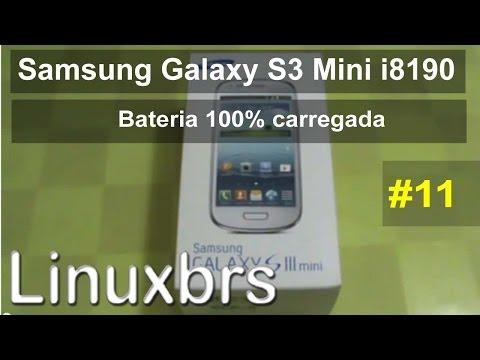 Samsung Galaxy S III Mini i8190 - Review - Bateria 100% carregada  - PT-BR Brasil