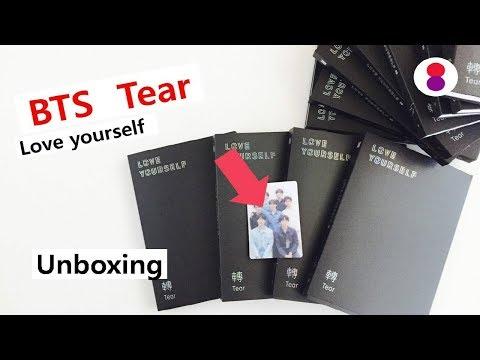 Unboxing BTS Tear Love yourself 3rd album 방탄소년단 스페셜 포토 카드 (포카) 防弾少年団 special limited photocard