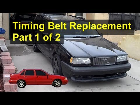 Volvo S70. 850. V70 Timing Belt Removal (Part 1 of 2) - Auto Repair Series