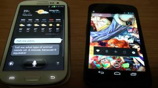 Galaxy SIII (S3) vs Galaxy Nexus (Jelly Bean 4.1.1)!