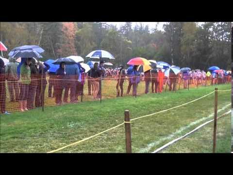 10 4 14 Gbury Girls XC Woods Trail Run at Thetford Academy 1