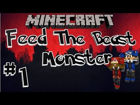 FTB Monster - [Ep 01] - Roguelike Dungeon Base (Minecraft Feed The Beast Modpack)