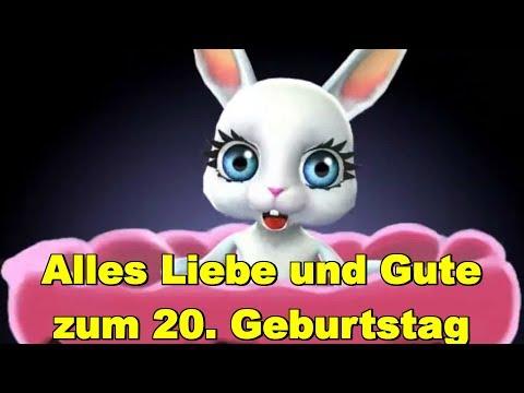 Zum 20. Geburtstag alles Liebe & Gute, Gesundheit & Glück  ❤️  ❤️ Happy Birthday to You ❤️