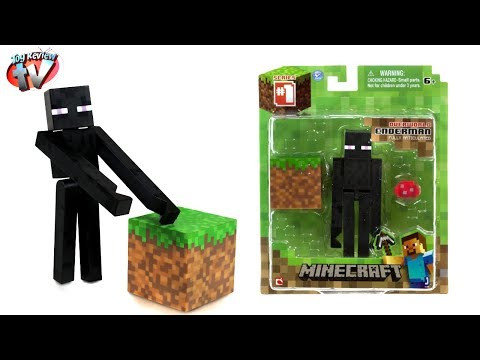 Minecraft Overworld Enderman Action Figure Toy Review. Jazwares