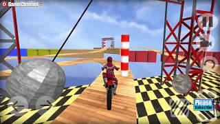 Racing Moto Bike Stunt Impossible Track Game / Android Gameplay Video #2