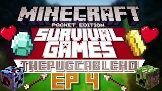 ✔EP 4 - SURVIVAL GAMES WITH MY BROTHER [ThePugCableHQ] // LBSG || YouTube RANK! [MCPE]