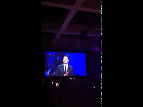 Matt Bomer Accepts Award, Mentions His Family