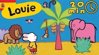 Louie dibujame animales de África - Compilación | Dibujos animados para niños