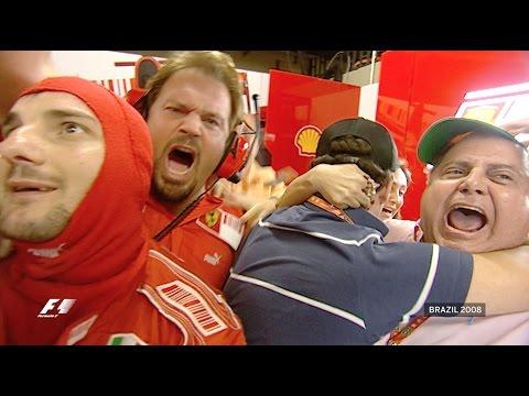 Hamilton v Massa 2008 Season Finale - Bernie Ecclestone's iconic moment in 65 years of F1®