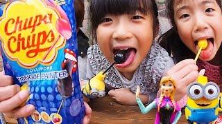 Chupa Chups TONGUE PAINTER & Spin Pop of Minions