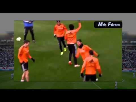 Cristiano Ronaldo Humilla a Pepe en entrenamiento del Real Madrid 2014