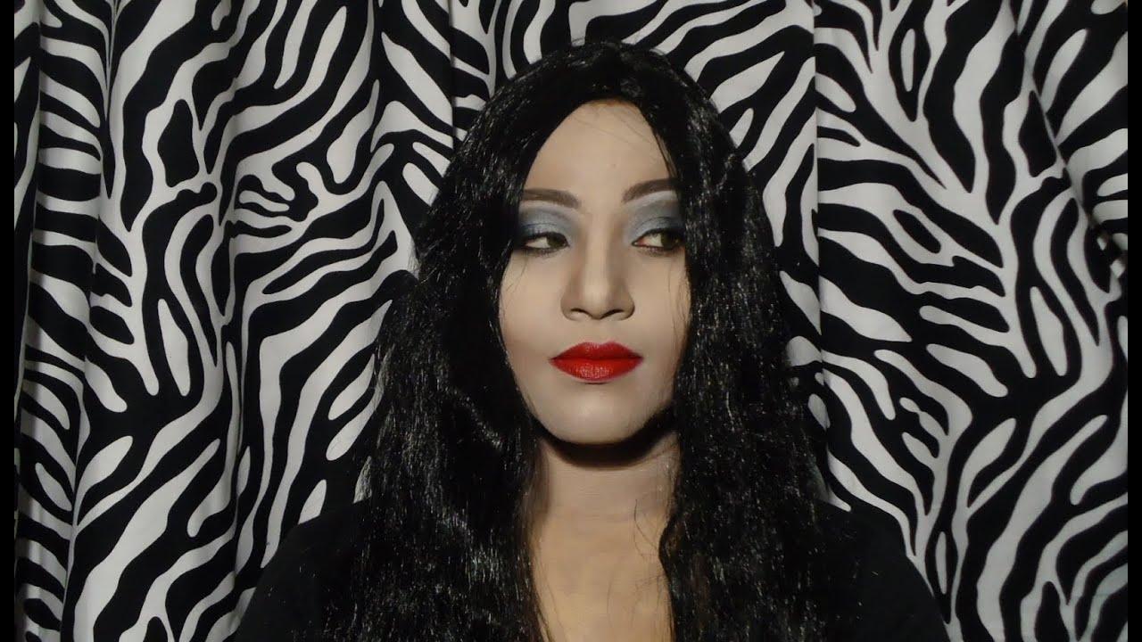 Morticia Addams Family Halloween Makeup Tutorial - YouTube