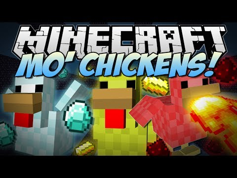 Minecraft MO CHICKENS Fire Breathing Poisonous Laying Diamonds More Mod Showcase