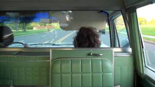 Going to the drive-in movies in a hearse ambulance