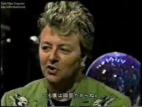 Brian Setzer on Japanese TV