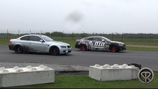 DRAG RACE: BMW M3 E92 VS Audi S5 VS Mercedes C63 AMG