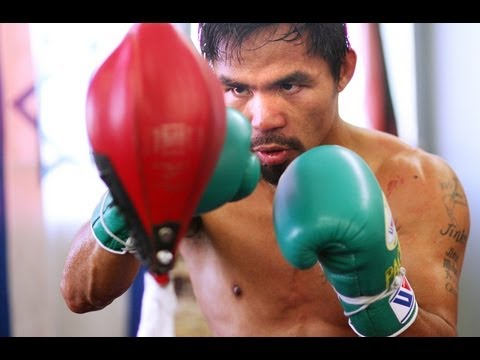 Train Like a Champ: Manny Pacquiao Works the Double Ended Bag Image 1