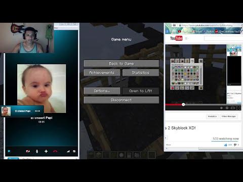 Minecraft 2 Vs 2 Skyblock XD!