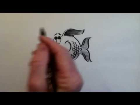 Bruce Langton - How to draw a cartoon Fish