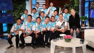 Zlatan Ibrahimovic meets Thailand cave rescue boys on The Ellen DeGeneres Show