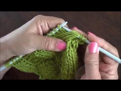Dos agujas: cómo tejer el punto mariposa